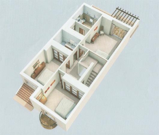 Floor plan of 3 bedroom apartments  upper floor 3 Bedroom Apartments   Quinta da Boa Nova Apartments. 3 Bedrooms Apartments. Home Design Ideas